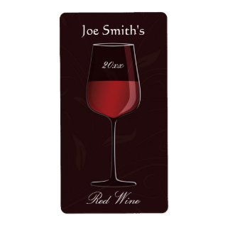 Elegant Home Made Wine Label Shipping Labels