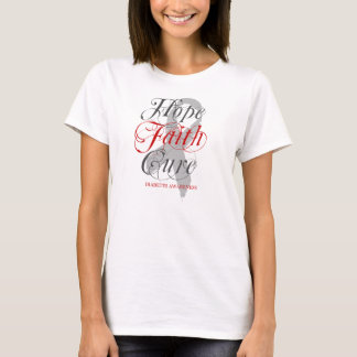 Elegant Hope. Faith. Cure. Diabetes T-Shirt