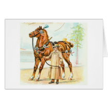 Elegant Horse and Rider, Greeting Card