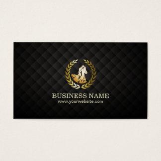 Elegant Horse Black & Gold Equine Animal Trainer Business Card