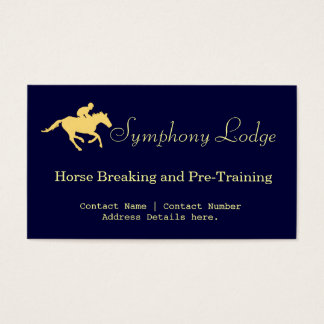 Elegant Horse Blue and Cream Business Cards
