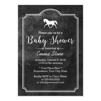 Elegant Horse Classic Frame Baby Shower Card