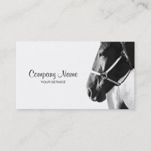 Horse business cards templates zazzle elegant horse head white business card colourmoves