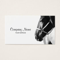 Elegant Horse Head White Business Card