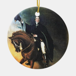 ELeGANT HOrSE & RiDER Double-Sided Ceramic Round Christmas Ornament