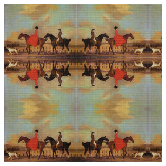 ELEGANT HORSE RIDING FABRIC