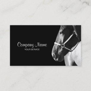 Horse business cards templates zazzle elegant horse side head black business card colourmoves