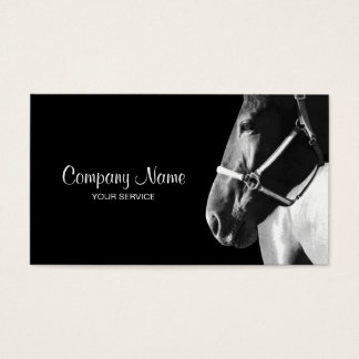 Horse business cards templates zazzle elegant horse side head black business card yadclub Images