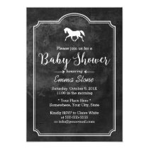 Elegant Horse Vintage Frame Baby Shower Invitation
