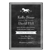 Elegant Horse Wedding Invitations