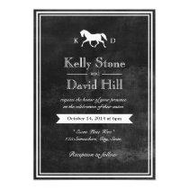 Elegant Horse Wedding Invitations
