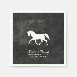 Elegant Horse Wedding Paper Napkin