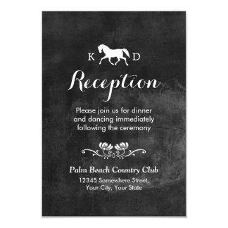 Elegant Horse Wedding Reception Card