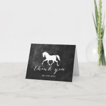 Elegant Horse Wedding Thank You