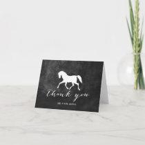 Elegant Horse Wedding Thank You