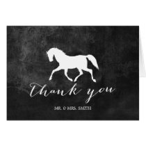 Elegant Horse Wedding Thank You Card