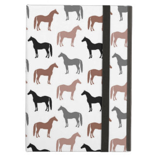 Elegant Horses Brown, Black and Gray Pattern Cover For iPad Air
