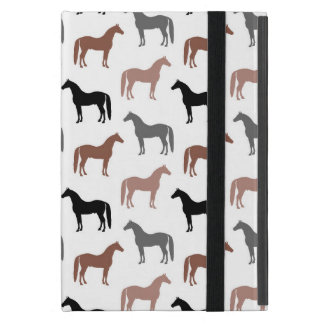 Elegant Horses Brown, Black and Gray Pattern Cover For iPad Mini