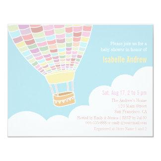 Elegant Hot Air Balloon Baby Shower Invitations