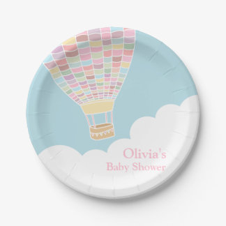 Elegant Hot Air Balloon Baby Shower Supplies Paper Plate