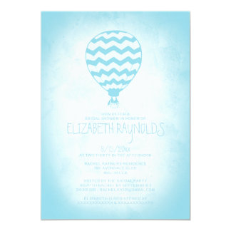 Elegant Hot Air Balloon Bridal Shower Invitations