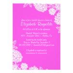 Elegant Hot Pink Bridal Shower Invitations Personalized Invitations