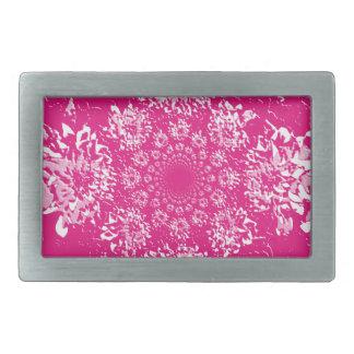 Elegant Hot Pink  Floral Dahlia Flower Pattern Belt Buckle