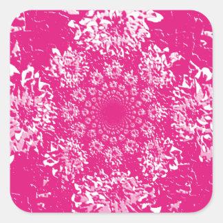 Elegant Hot Pink  Floral Dahlia Flower Pattern Square Sticker