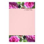 Elegant Hot Pink Roses Stationery Design