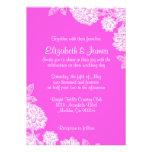 Elegant Hot Pink Wedding Invitations Personalized Invitations