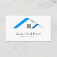 Elegant House Roof Real Estate - Business Card