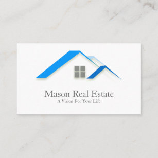 House business cards zazzle elegant house roof real estate business card colourmoves