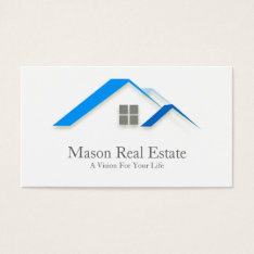 Elegant House Roof Real Estate - Business Card at Zazzle