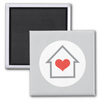 Elegant house with heart home magnet