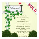 "Elegant Housewarming Invitation 5.25"" Square Invitation Card"