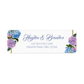 Elegant Hydrangea Address Labels