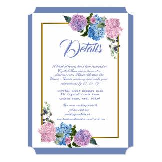 Elegant Hydrangea Enclosure Card