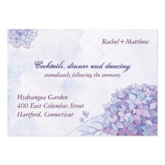 Elegant Hydrangea Wedding Reception (3.5x2.5) Business Cards