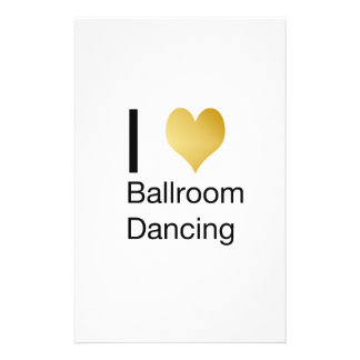 Elegant I Heart Ballroom Dancing Stationery