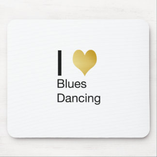 Elegant I Heart Blues Dancing Mouse Pad