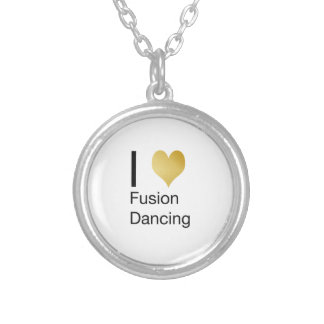Elegant I Heart Fusion Dancing Silver Plated Necklace