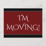"[ Thumbnail: Elegant ""I'M Moving!"" Change of Address Postcard ]"