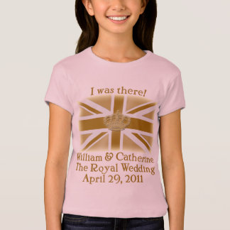 Elegant I WAS THERE Royal Wedding T shirt