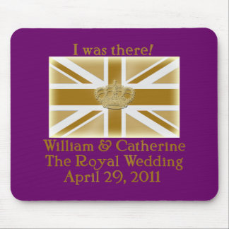Elegant I WAS THERE Royal Wedding T shirt Mouse Pad