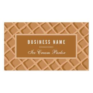 Elegant, Ice Cream Waffle Cone Double-Sided Standard Business Cards (Pack Of 100)