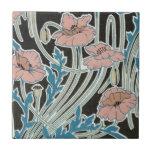 elegant icelandic poppies art nouveau design ceramic tile