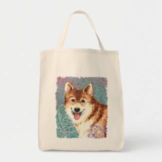 Elegant Icelandic Sheepdog Tote Bag