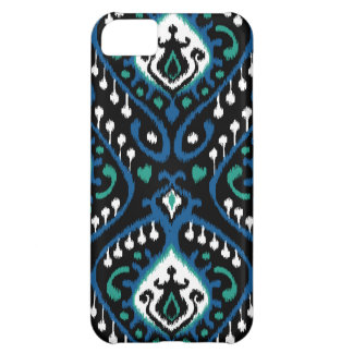 Elegant ikat pattern - blue night case for iPhone 5C