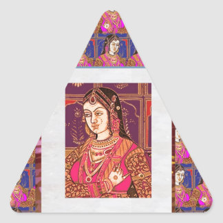 Elegant Indian Bride Costumes : Enjoy n Share Joy Triangle Sticker