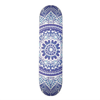 Elegant Indian Ornamental Vintage Design Purple Skateboard Deck